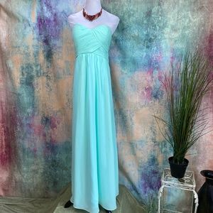 ⚜️ A-Line Mint Green Prom Bridesmaid Ball Gown